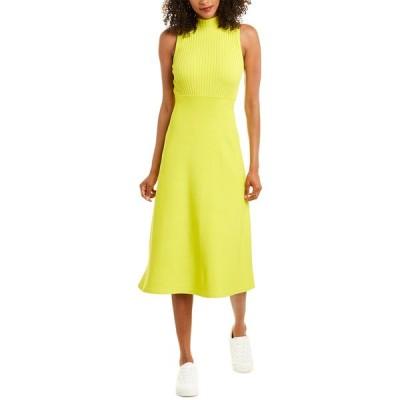 セオリー ワンピース トップス レディース Theory Compact Rib Midi Dress bright lime