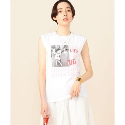 tシャツ Tシャツ 【WEB限定カラーあり】ノースリーブプリントTee