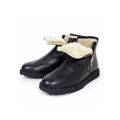 ブーツ ダブルサイドジップウールブーツ