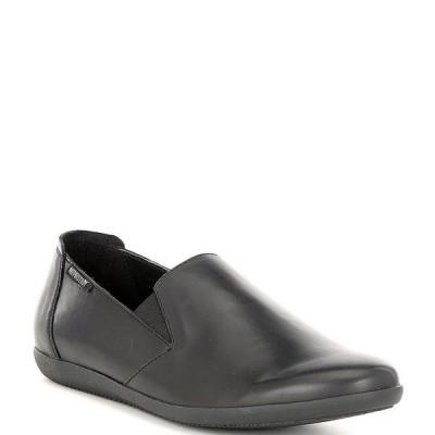 メフィスト レディース サンダル シューズ Korie Leather Slip On Flats Black