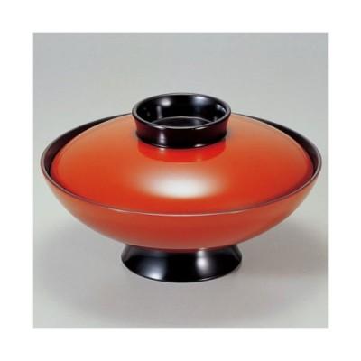 (業務用・蓋向・煮物碗)6寸小槌煮物椀 朱 700cc(入数:5)