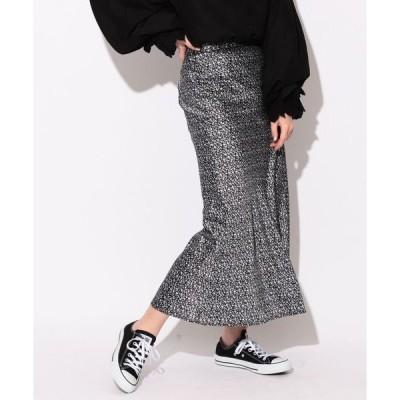 スカート BeAMS DOT / ナロー花柄スカート