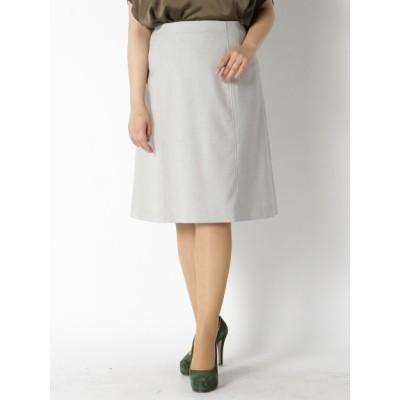 【大きいサイズ】【セット商品あり】【L-7L】【日本製】セットアップ8枚ハギ台形スカート 大きいサイズ スカート レディース