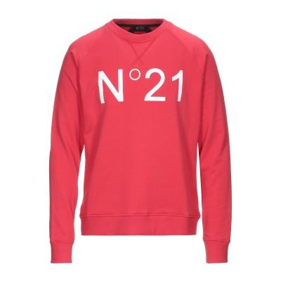 ヌメロ ヴェントゥーノ N°21 スウェットシャツ レッド S コットン 100% スウェットシャツ