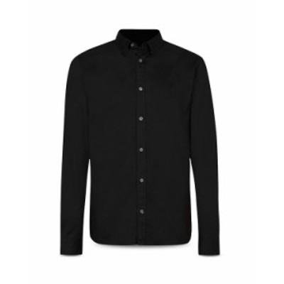 オールセインツ メンズ シャツ トップス Hawthorne Cotton Solid Regular Fit Button Down Shirt Black