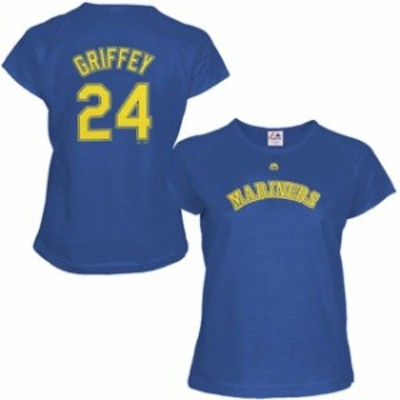 Majestic マジェスティック スポーツ用品  Majestic Ken Griffey Jr. Seattle Mariners Womens Royal Blue Cooperstown Name & Number T-