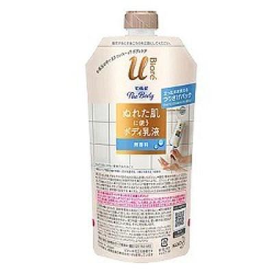 【花王】ビオレu ザ ボデイ ぬれた肌に使うボディ 乳液 無香料 つりさげパック 300ml ※取寄商品