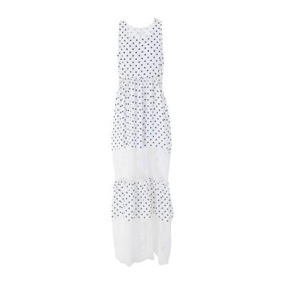4GIVENESS ロングワンピース&ドレス ホワイト L ポリエステル 100% ロングワンピース&ドレス