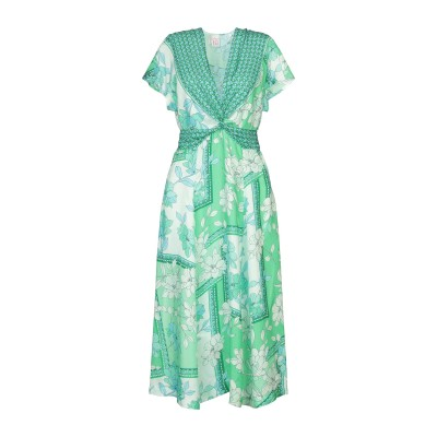 ARCHIVIO '67 7分丈ワンピース・ドレス グリーン 40 シルク 100% 7分丈ワンピース・ドレス