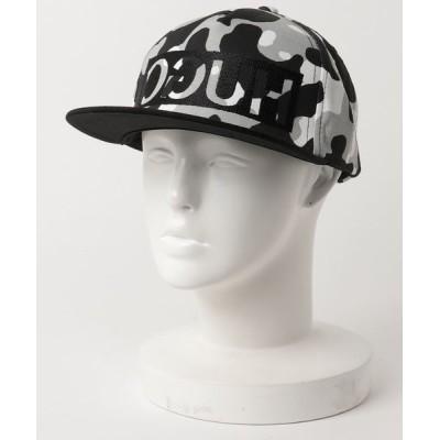 HUGO BOSS / リバースロゴ スナップバック キャップ イン カモフラージュ コットンギャバジン MEN 帽子 > キャップ