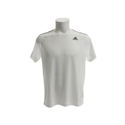 アディダス(adidas) D2M 3ストライプスTシャツ BVA80-BK0971 半袖 オンライン価格 (メンズ)