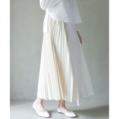 スカート デニムプリーツスカート