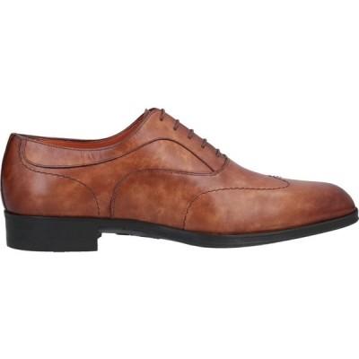 サントーニ SANTONI メンズ 革靴・ビジネスシューズ シューズ・靴 Laced Shoes Tan