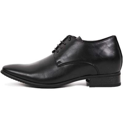 [HAVILAH MODE] シークレットシューズ 7cmアップ メンズ ビジネスシューズ ビジネス 革靴 ヒールアップ【プレーントゥ R11: 23