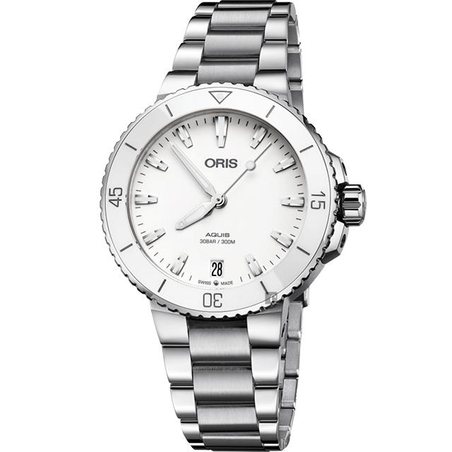 ORIS Aquis 時間之海潛水300米機械錶-36.5mm 0173377314151-0781805P