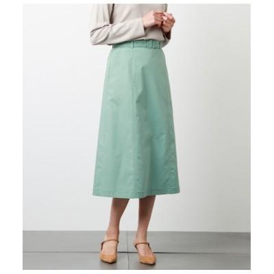 スカート マットオックス ウエストゴムロングスカート