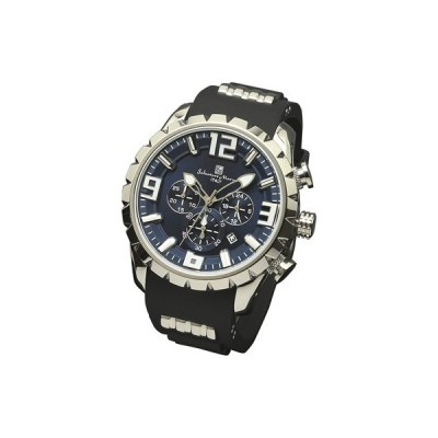 サルバトーレマーラ 腕時計 ウレタンベルトクロノグラフウォッチ SM15107-SSBL Salvatore Marra エスケイインターナショナル