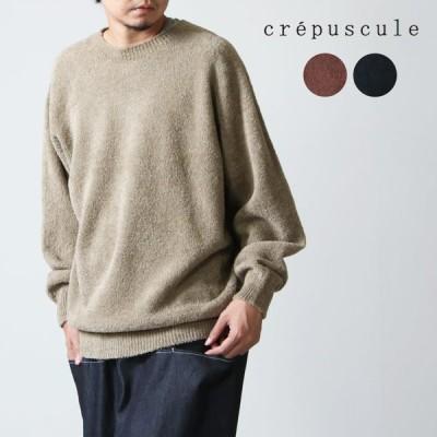 【30% OFF】crepuscule (クレプスキュール) Cotton mole crew / コットンモールクルー