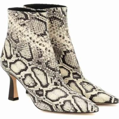 ワンダラー Wandler レディース ブーツ ショートブーツ シューズ・靴 lina leather ankle boots Black White Python