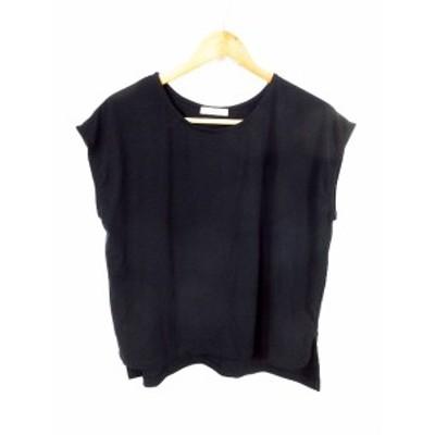 【中古】フリークスストア FREAKS STORE Tシャツ カットソー 半袖 無地 F 黒 ブラック /MO レディース