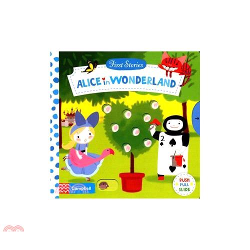 Alice in Wonderland (First Stories)(硬頁推拉書)【三民網路書店】(硬頁書)[61折]