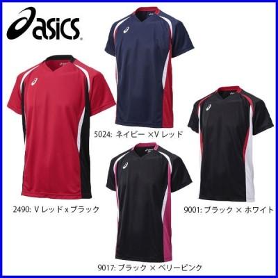 ◇ユニフォーム製作OK アシックス ユニセックス バレーボール 半袖 ゲームシャツHS バレーボールウェア XW1325