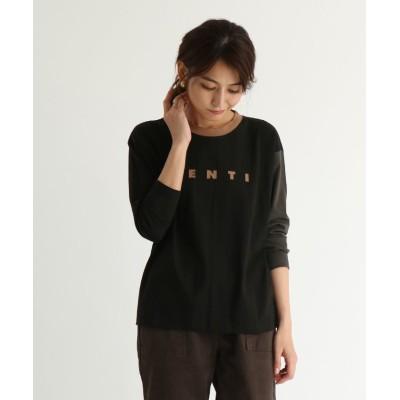 (SCOTCLUB/スコットクラブ)SCOTCLUB(スコットクラブ) 【手洗い可】配色デザインロゴTシャツ/レディース クロD