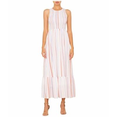 ミスミー ワンピース トップス レディース Smocked Sleeveless Maxi Dress Multi Blue