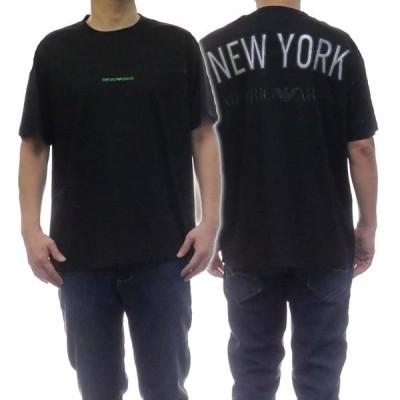 EMPORIO ARMANI エンポリオアルマーニ メンズクルーネックTシャツ 3H1T78 1JSTZ ブラック