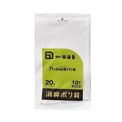 日本サニパック 消臭袋 防臭袋 ニオワイナ 消臭 白 半透明 20L 10P ゴミ袋 ポリ袋 SS20
