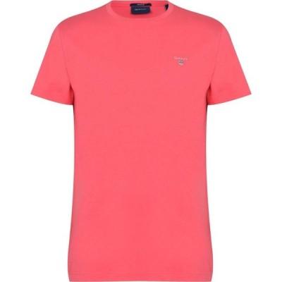 ガント Gant メンズ Tシャツ ロゴTシャツ トップス Crew Logo T Shirt Pink