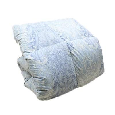 増量タイプ1.4kg入り 羽毛布団 ロマンス小杉 フランス産ダウン85% シングル(0251) (ブルー)