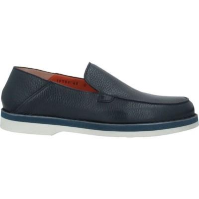 サントーニ SANTONI メンズ ローファー シューズ・靴 loafers Dark blue