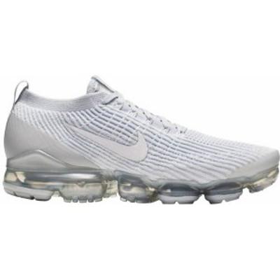 ナイキ メンズ スニーカー シューズ Nike Men's Air VaporMax Flyknit 3 Shoes White/Pure Platinum