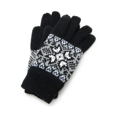 WORLD ONLINE STORE SELECT / 雪の結晶モチーフニットグローブ WOMEN ファッション雑貨 > 手袋