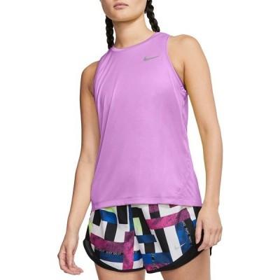 ナイキ シャツ トップス レディース Nike Women's Miler Running Tank Top Fuchsia Glow