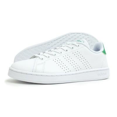 adidas(アディダス)ADVANCOURT LEA M(アドバンコート ベース)(F36424/ホワイト×グリーン) スニーカー 靴 ローカット 白 緑 メンズ レディース
