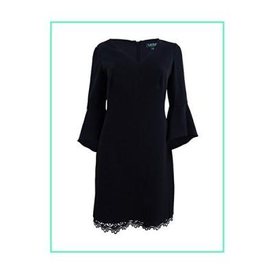 Lauren by Ralph Lauren Women's Crepe Bell-Sleeve Dress (4, Black)並行輸入品