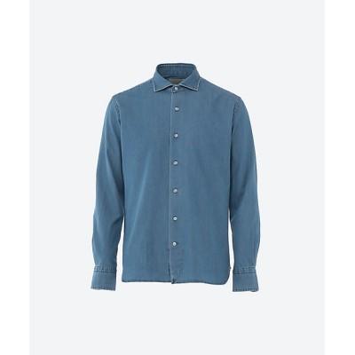 <ORIAN(MEN)/オリアン> 長袖無地デニムワイドカラーシャツ 20Bブルー【三越伊勢丹/公式】