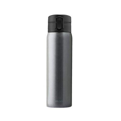 アイリスオーヤマ 水筒 500ml 6時間温度キープ 真空断熱 マグボトル 子供 ワンタッチ ステンレス 保冷 保温 SB-O500M メタリックグレ