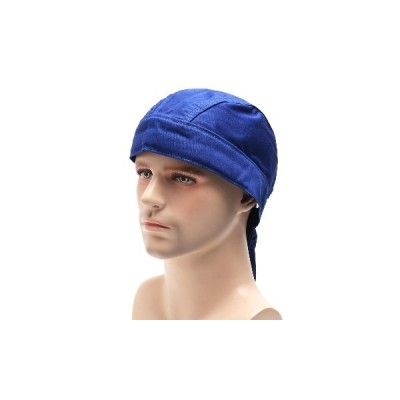 溶接溶接機保護帽子キャップスカーフ溶接機難燃性コットンバンダナ