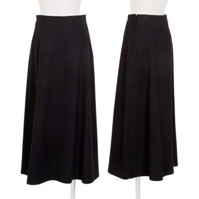 ワイズY's フラノフレアースカート 黒W66 【レディース】