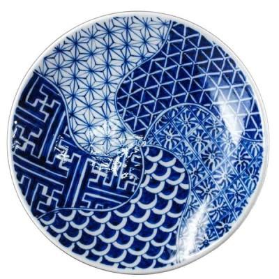 砥部焼 陽貴窯 6寸丸皿(捻り祥瑞)