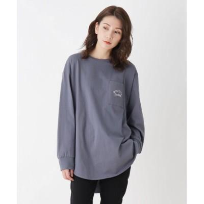 SHOO・LA・RUE / 【M-LL】ラウンドヘムグラフィックロングTシャツ WOMEN トップス > Tシャツ/カットソー