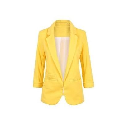 春夏秋新品スーツジャケットOL通勤仕事着七分袖女性コート修身ジャケットレディース着痩せカーディガンスーツテーラードジャケット
