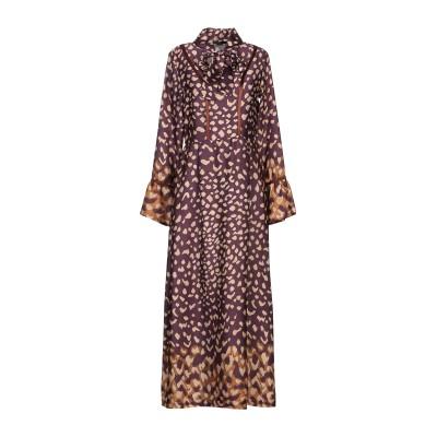 SISTE' S ロングワンピース&ドレス ディープパープル S ポリエステル 100% ロングワンピース&ドレス