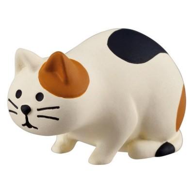【デコレ/DECOLE】コンコンブルconcombreマスコット 観察ネコ 三毛猫