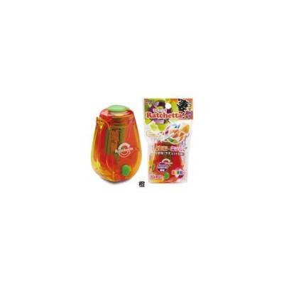 ソニック ラチェッタ ハンディ鉛筆削り お知らせ機能付 SK-825-OR 橙 (SK825OR オレンジ)