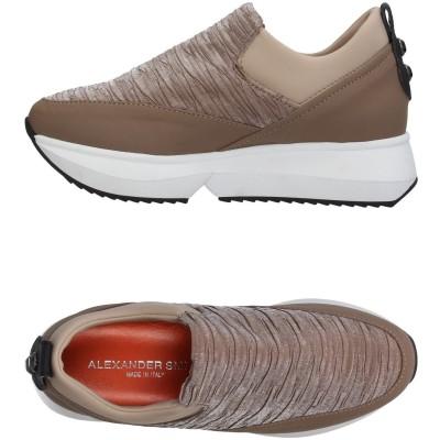 ALEXANDER SMITH スニーカー&テニスシューズ(ローカット) カーキ 35 紡績繊維 / 革 スニーカー&テニスシューズ(ローカット)