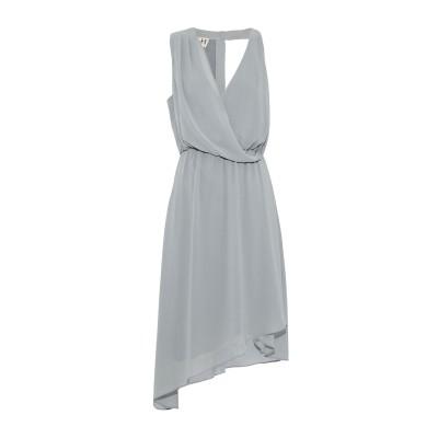 HAUTE HIPPIE ミニワンピース&ドレス グレー M ポリエステル 100% ミニワンピース&ドレス